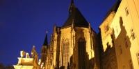 Schloßkirche bie Nacht
